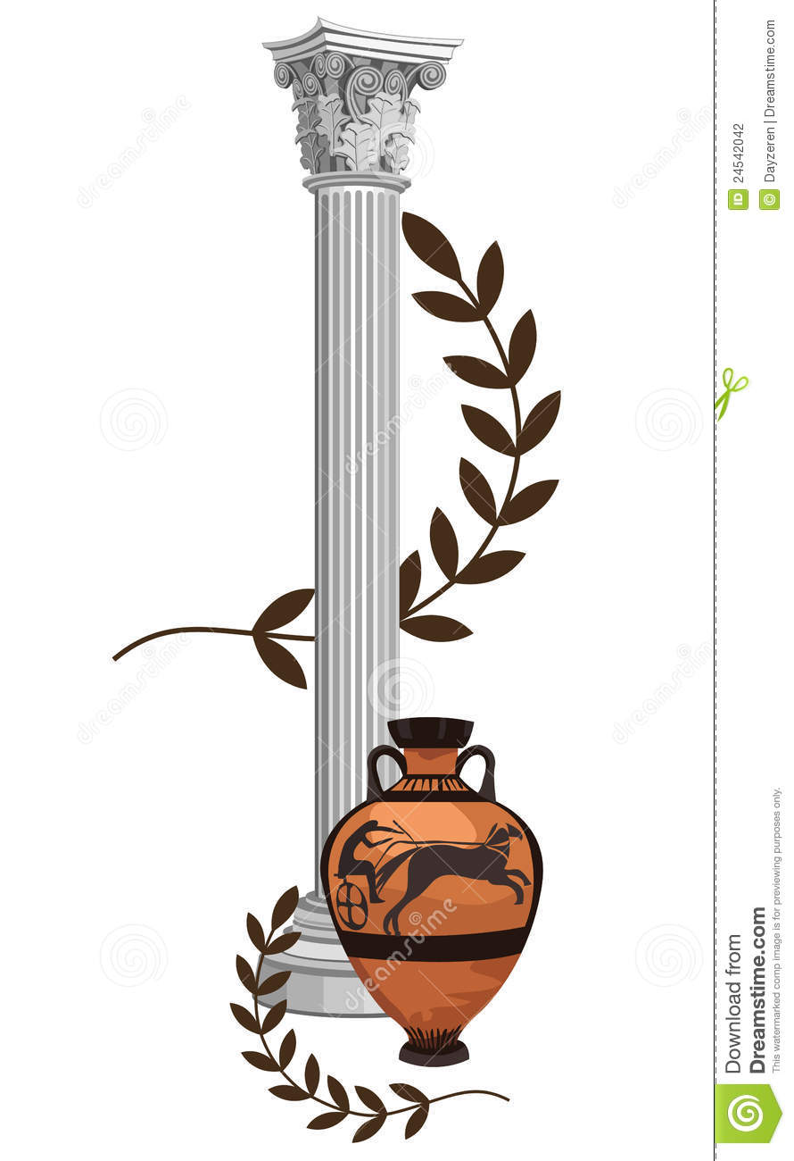 Antique Greek Symbols Stock Photography - Image: 24542042