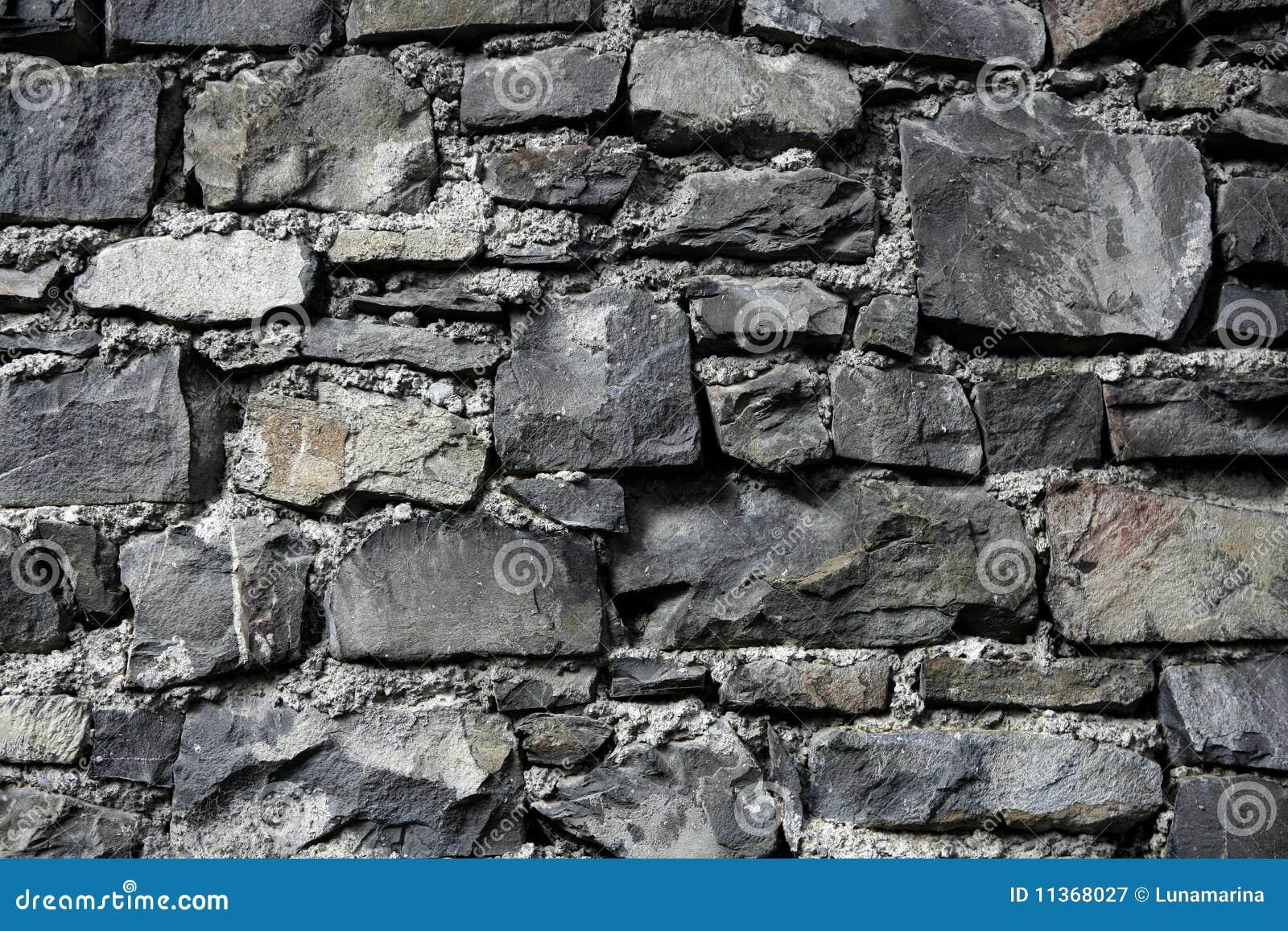 Antique Grunge Old Gray Stone Wall Masonry Stock Image