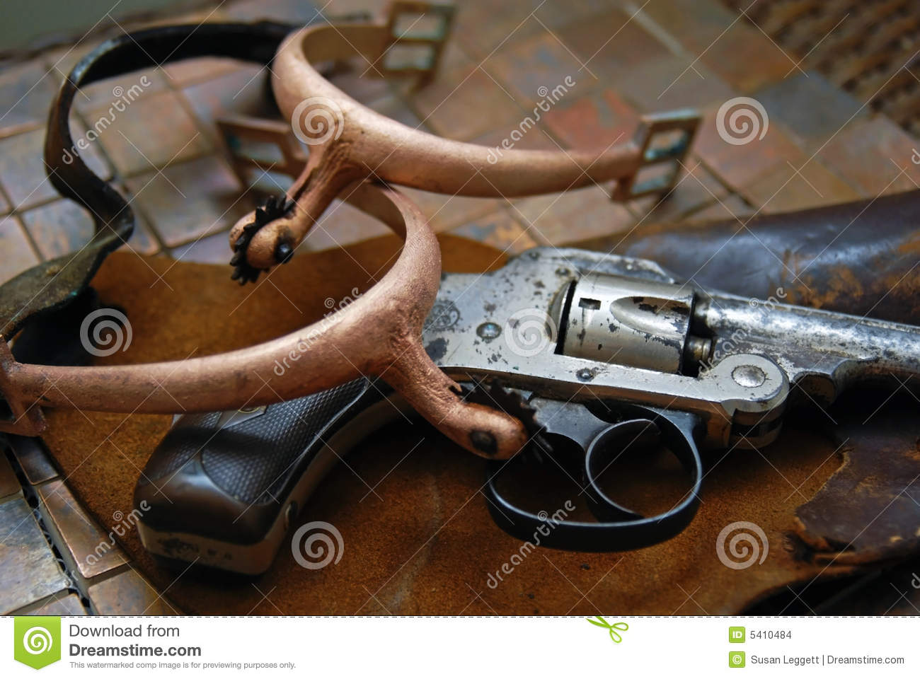 Antique/Gun,Holster,Spurs stock photo  Image of danger - 5410484
