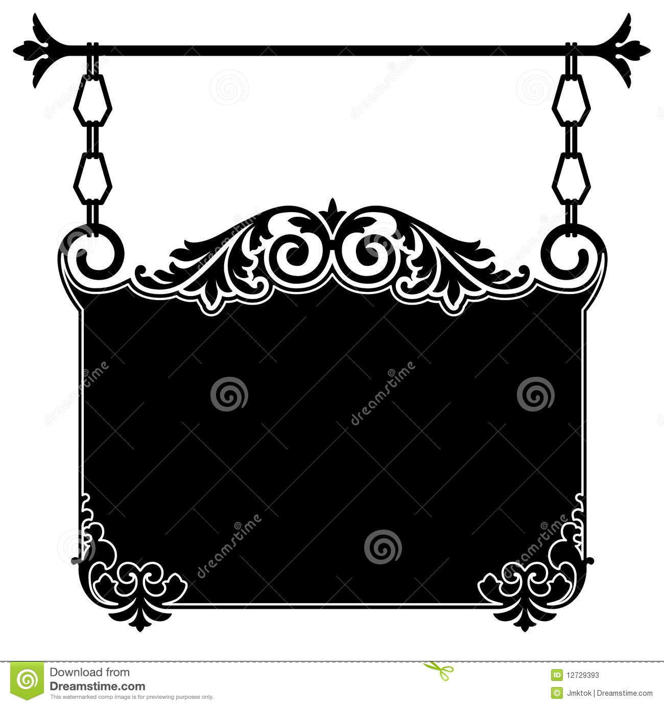 Antique Hanging Sign Stock Photos