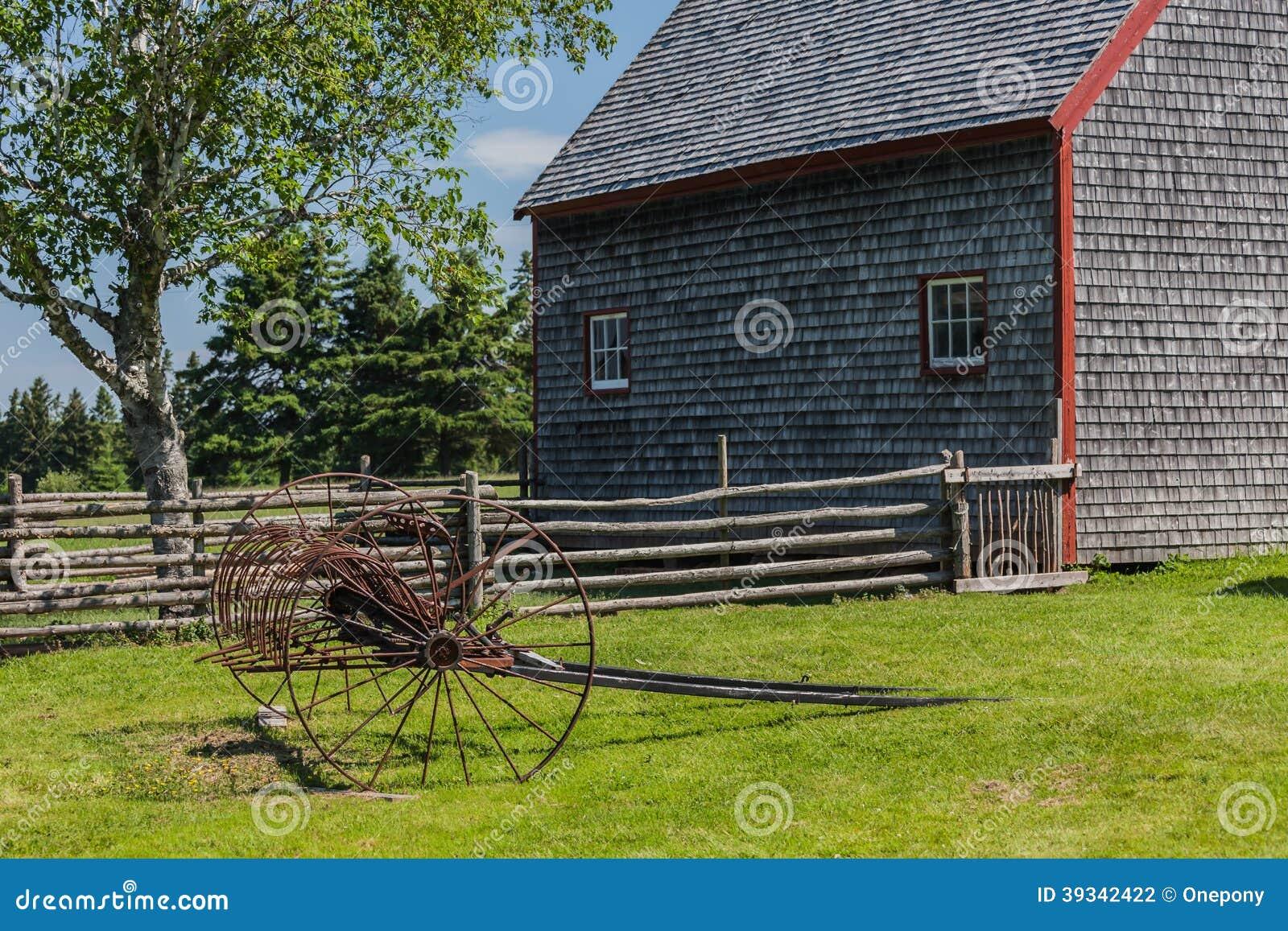 Antique Hay Rake Parts : Antique hay rake