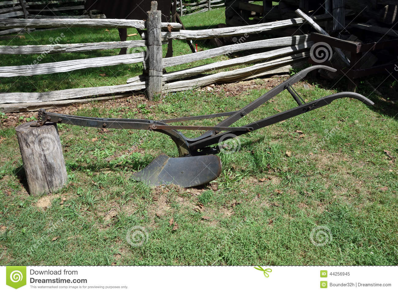 Antique Horse Drawn Plow Pioneer Days Farming Implement Display Historic Farm Virginia