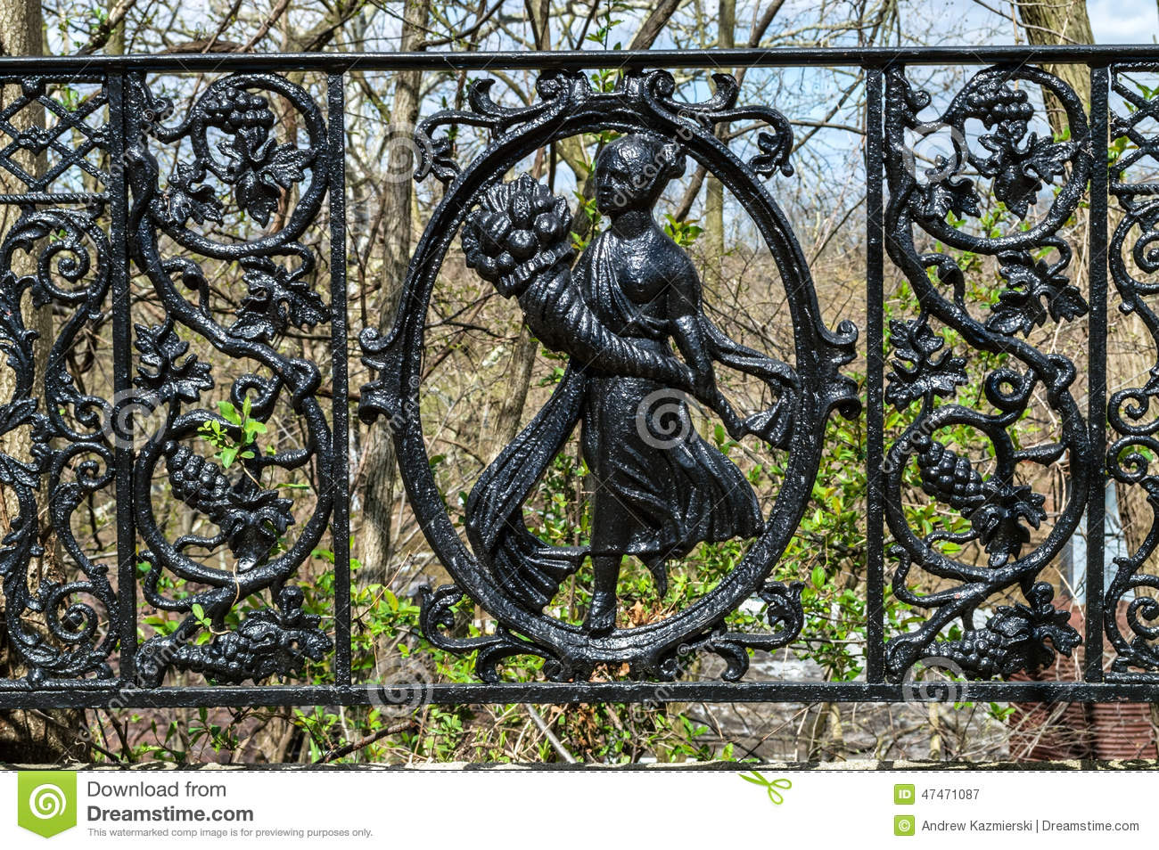 Antique Iron Fence Stock Image Image Of Steel Gate