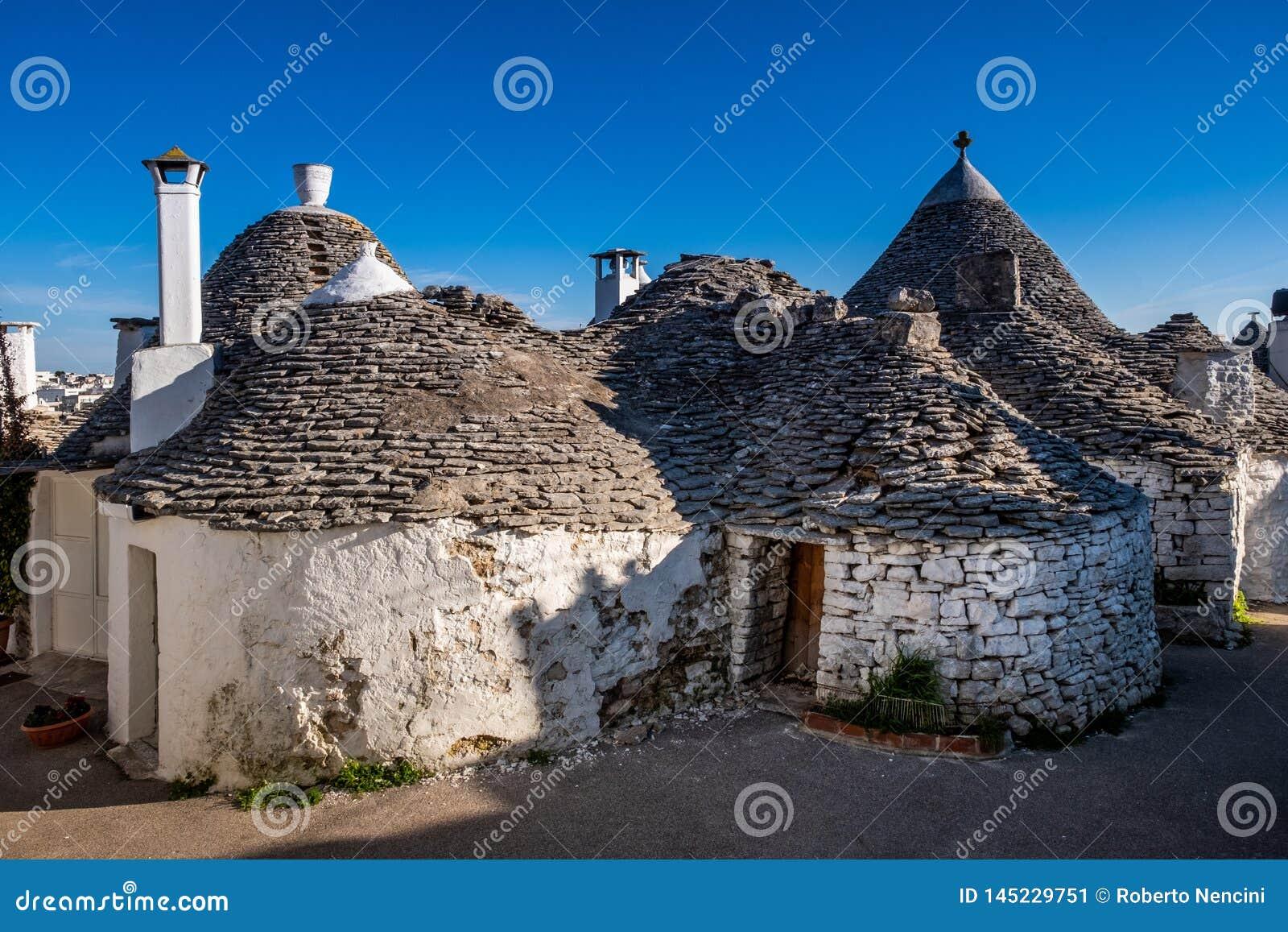 Antique Italian House Trulli Alberobello Puglia Italy Stock