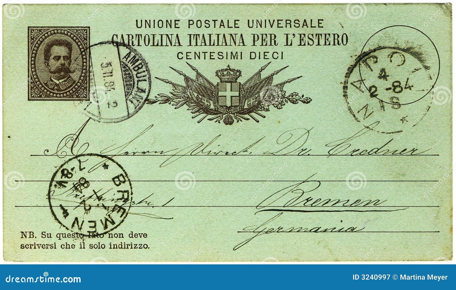 Italian handwritten postcard letter stock photo image 39254147 - Antique Italian Postcard Royalty Free Stock Photography