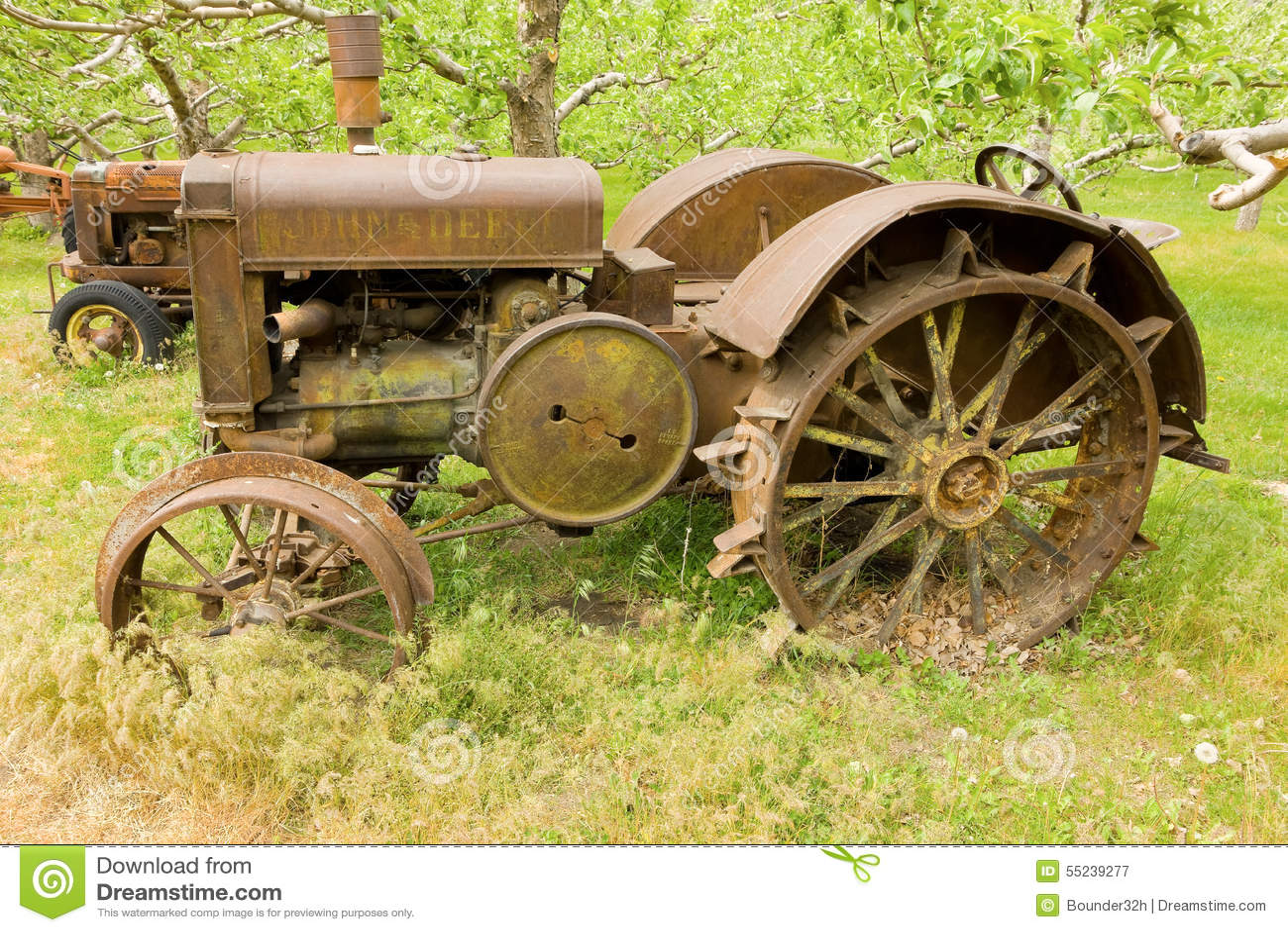An Antique John Deere Tractor In British Columbia Editorial ...