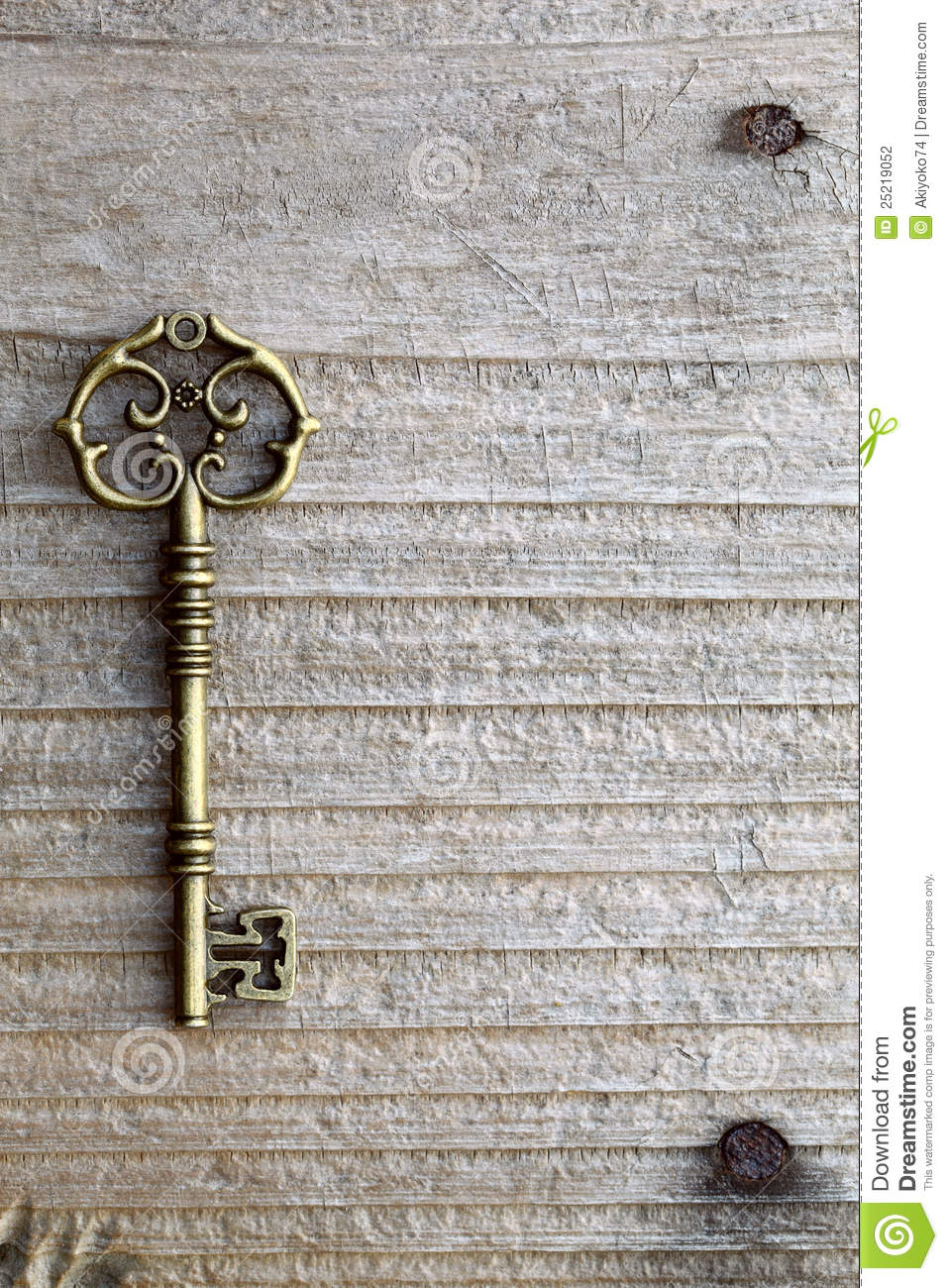 Antique Key Stock Photo Image Of Metal House Design