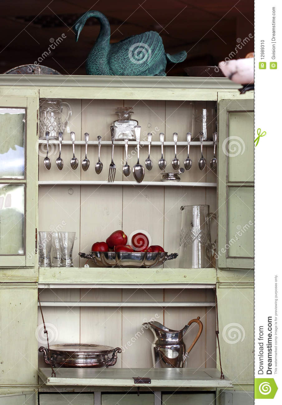 Antique kitchen cupboard - Antique Kitchen Cupboard Stock Photo