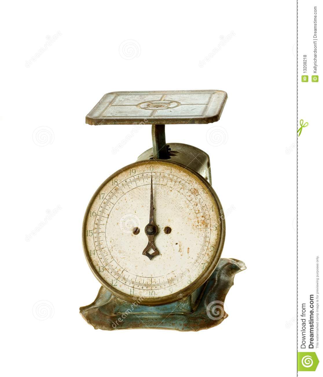 Antique Kitchen Scale: Antique Kitchen Household Scale Royalty Free Stock Photos