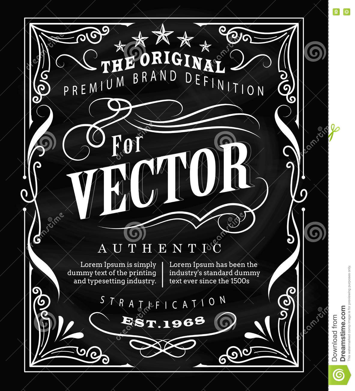 Antique Label Typography Poster Vintage Frame Blackboard ...