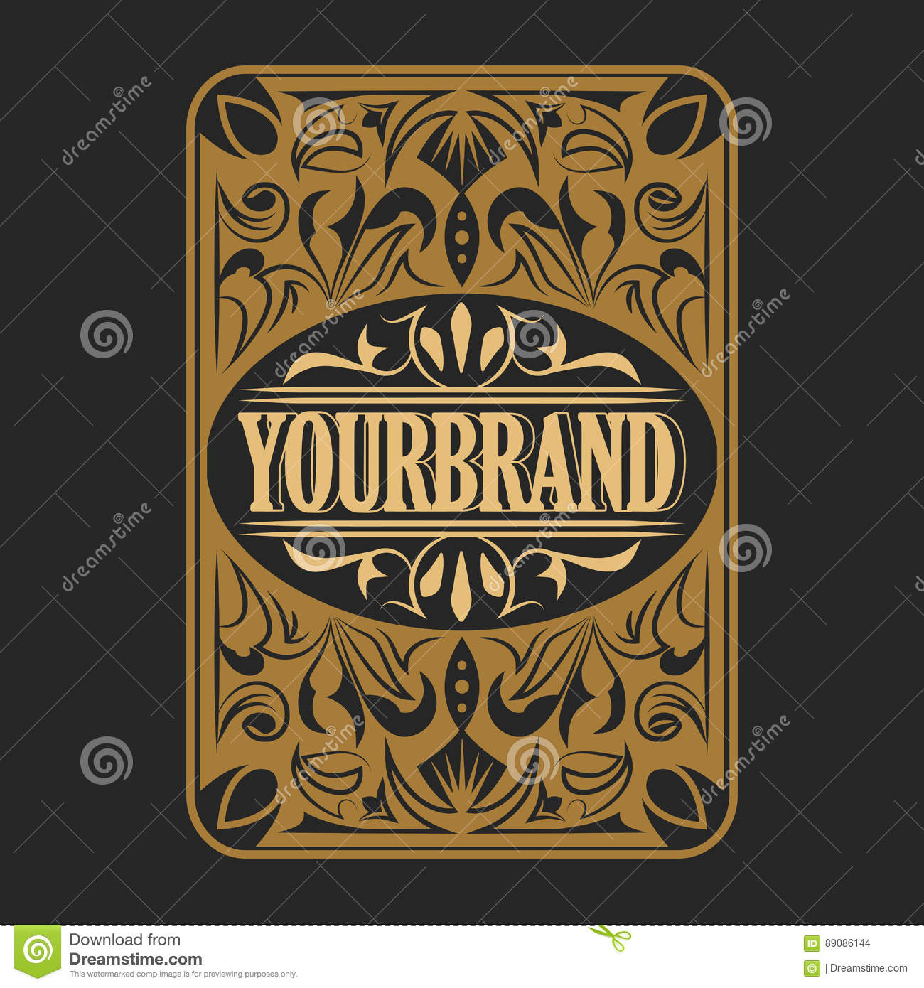antique label vintage frame design retro logo stock vector