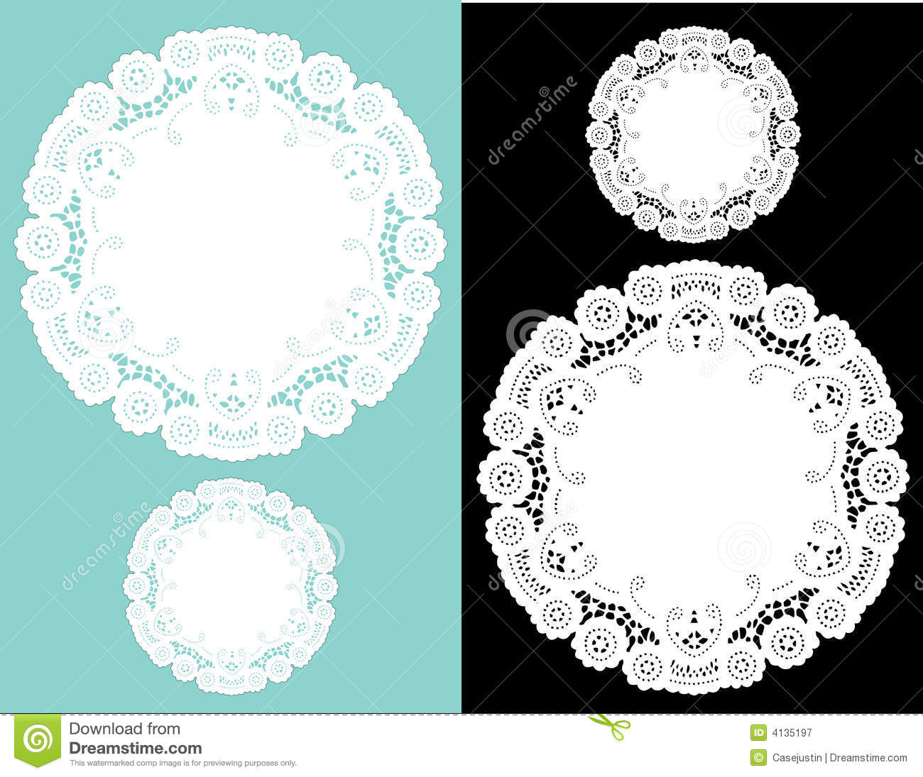 Antique Lace Doilies Royalty Free Stock Photography