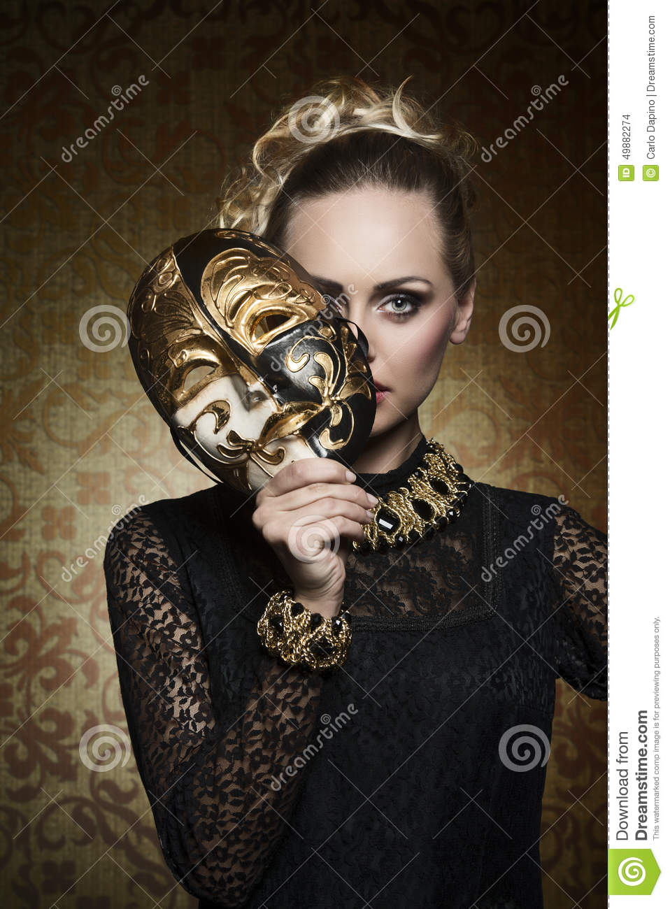 Download Antique Lady With Gothic Mask Stock Photo - Image of aristocrat, caucasian: 49882274