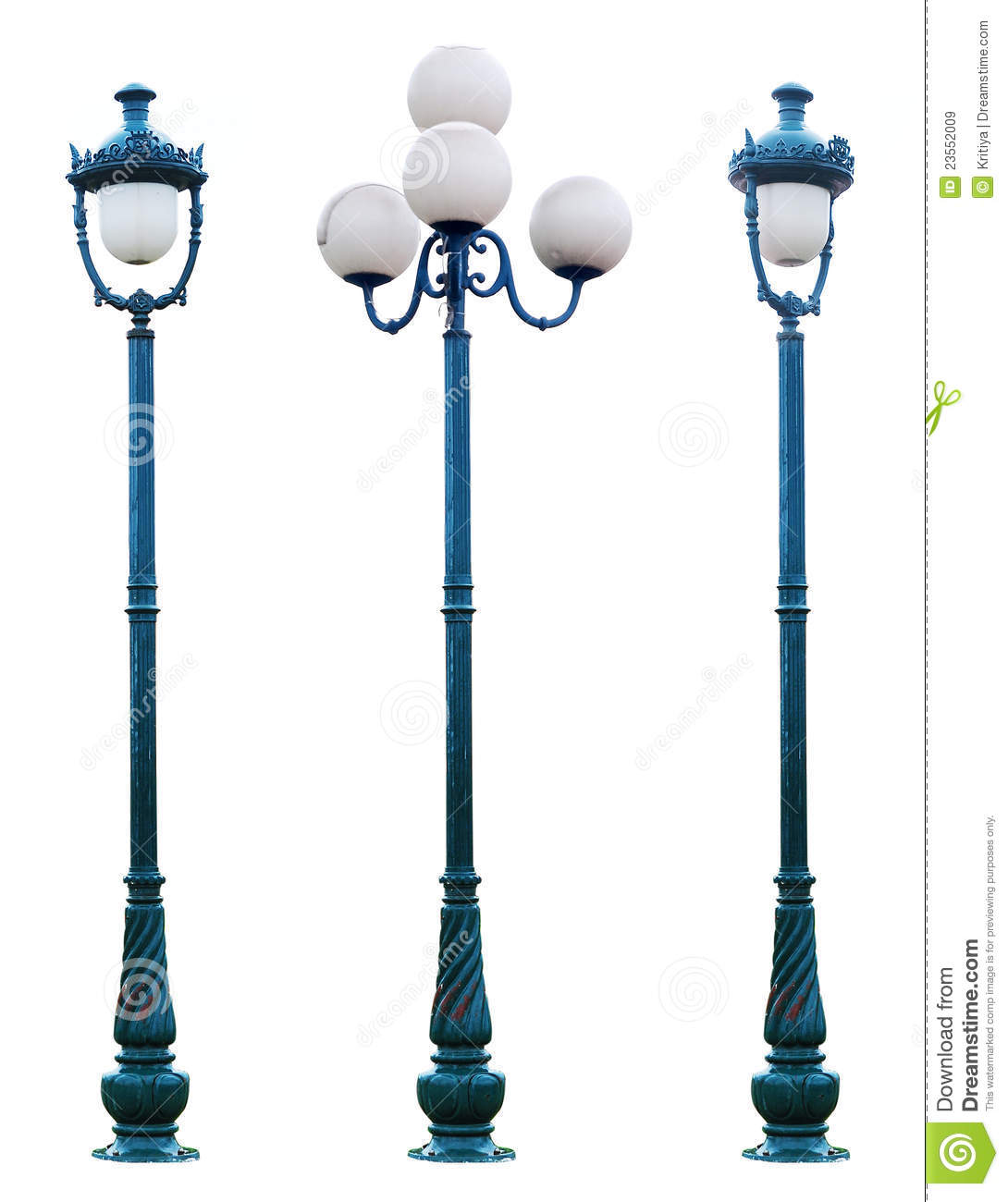 Antique Lamp Post Lamppost Street Road Light Pole Royalty Free Stock ...