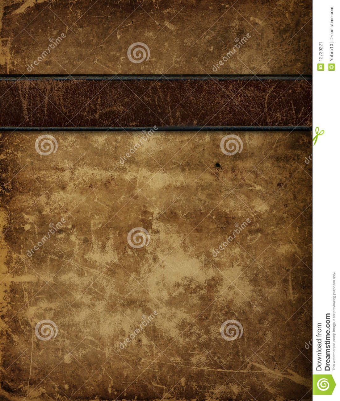 Vintage Leather Book Cover : Antique leather book cover stock image