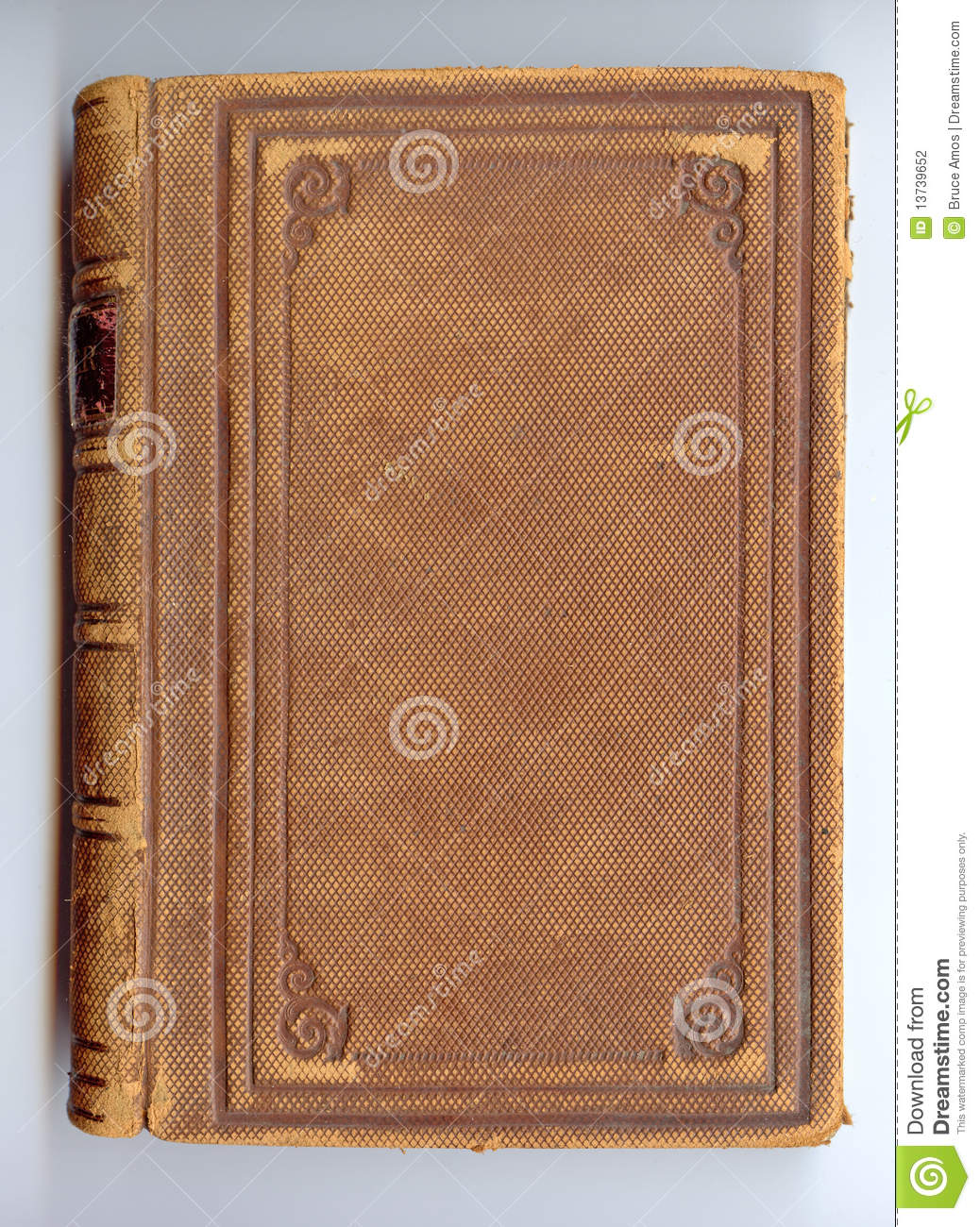 Old Book Leather Case ~ Antique leather book cover stock photography image