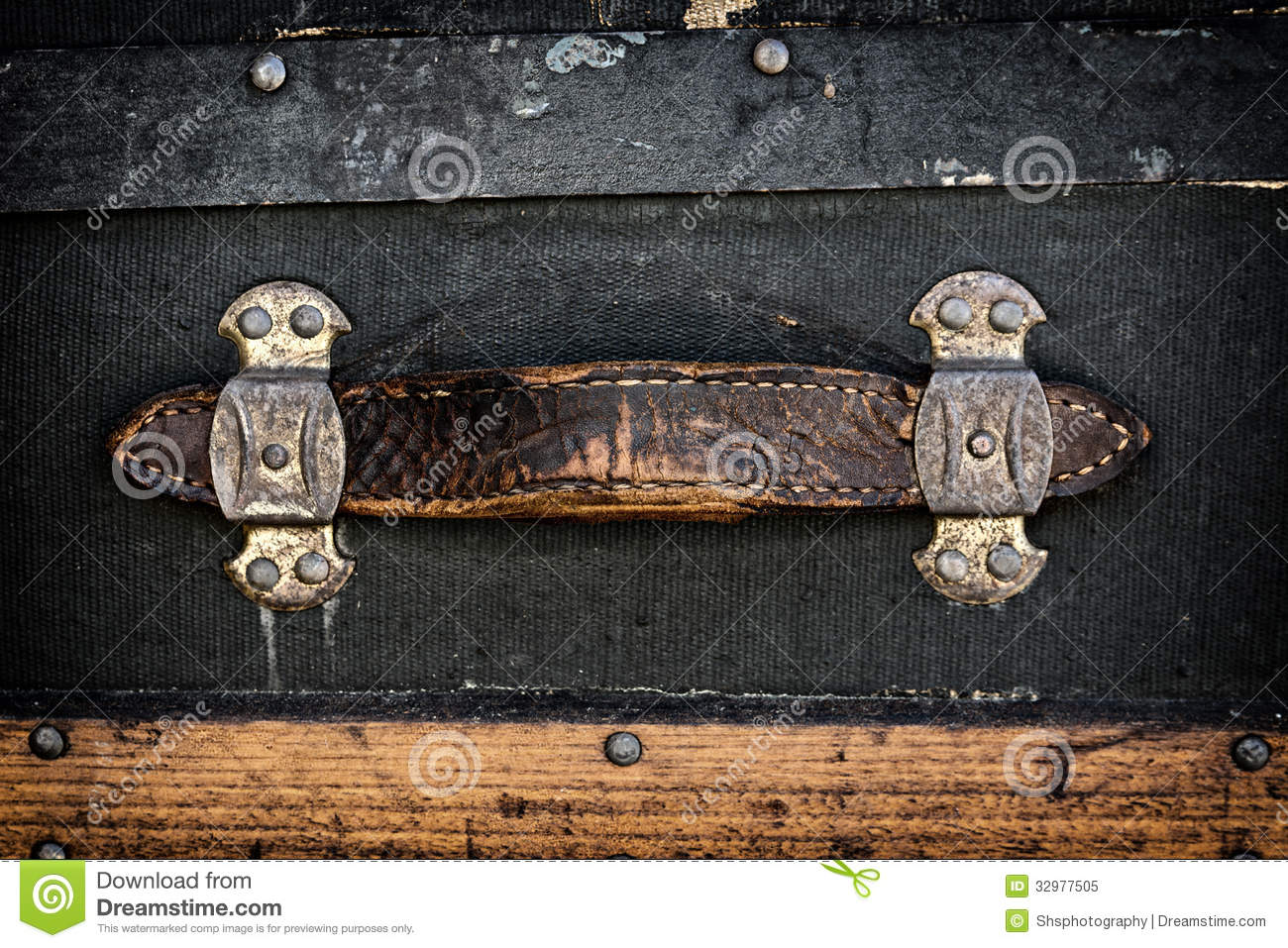 Antique Leather Handle Royalty Free Stock Photo - Image: 32977505