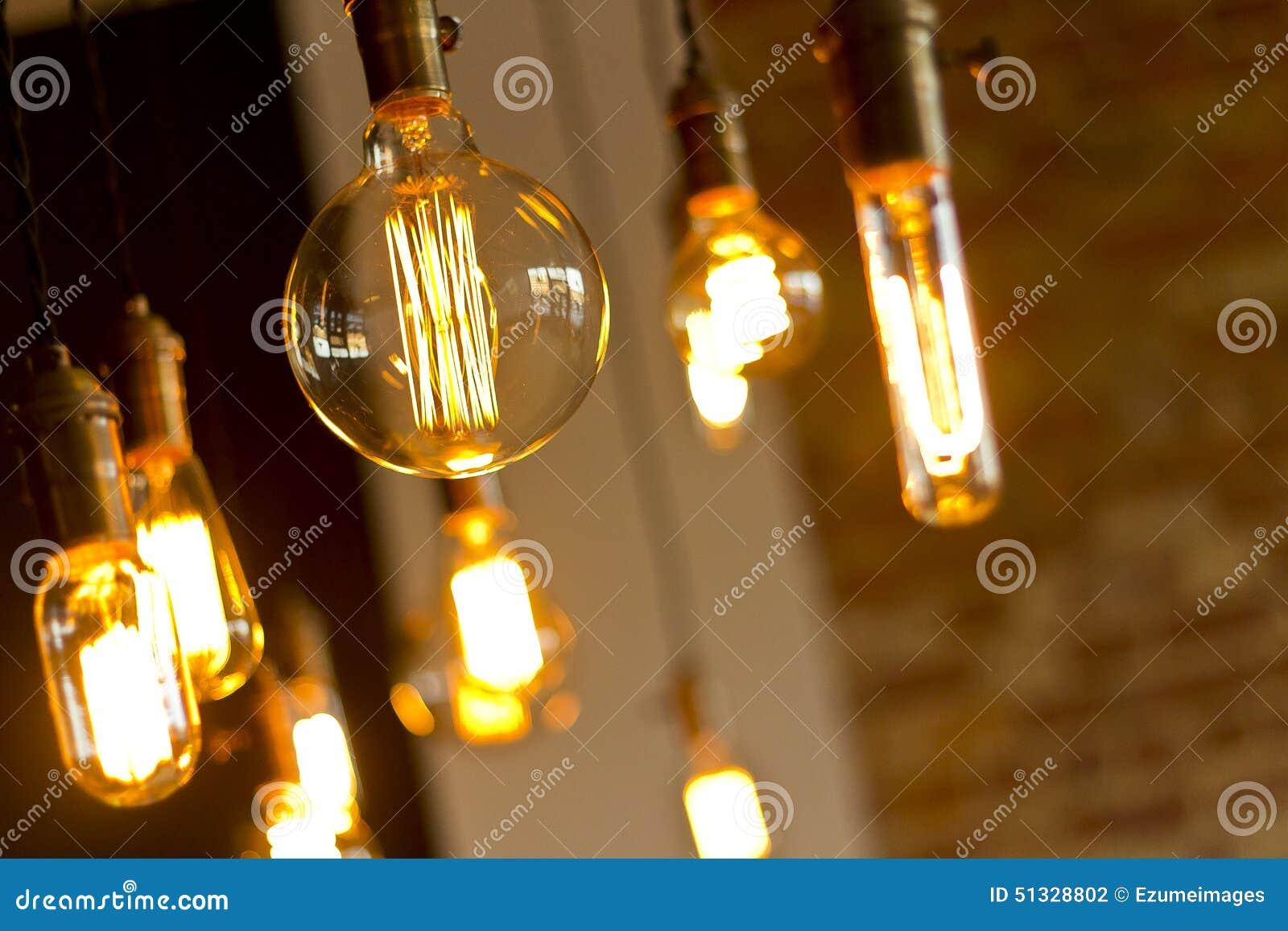 antique background brick bulbs decorative edison light - Antique Light Bulbs