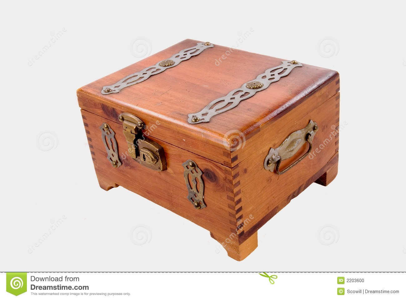 Antique Lockable Cigar Box Stock Photo Image Of Rolled 2203600
