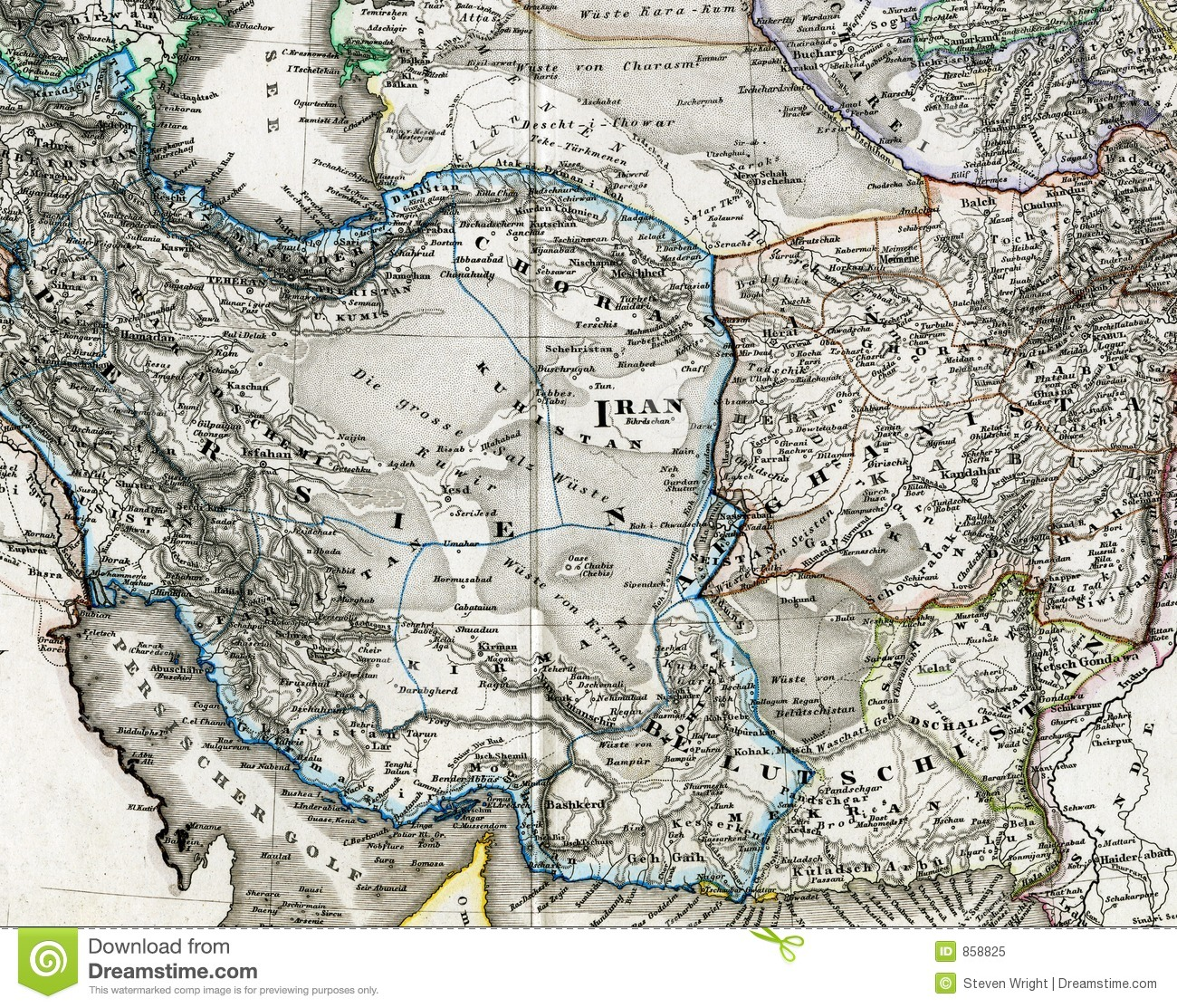 Antique Map Of Iran Afghanistan Royalty Free Photo Image – Afghanistan Iran Map