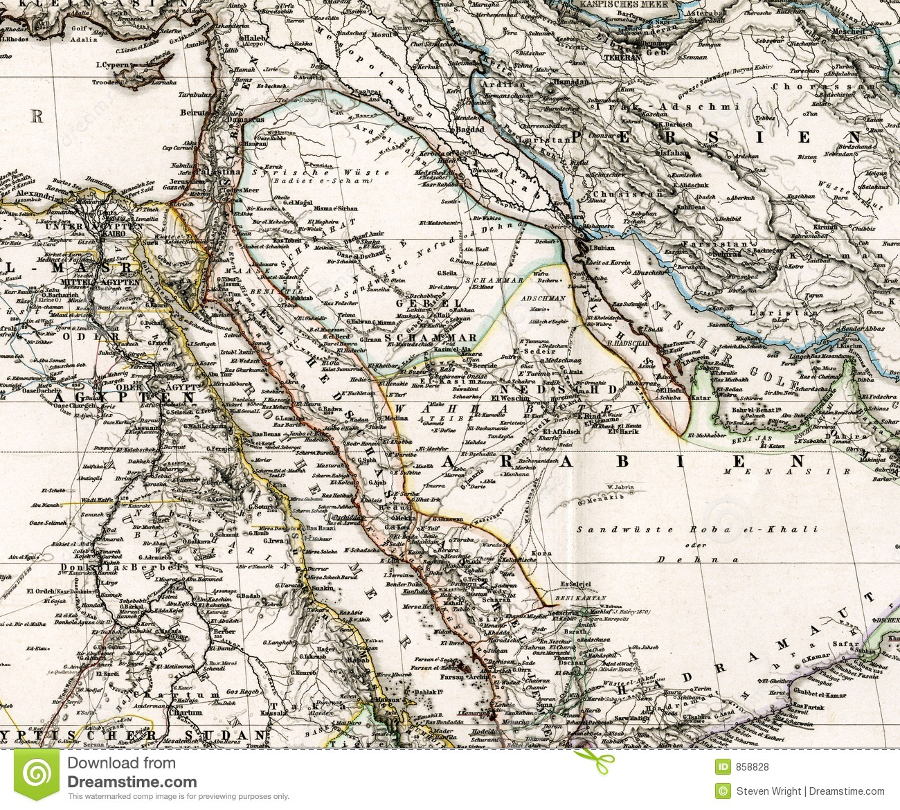 Egypt On Actual Vintage Political Map Of Africa Stock Vector - Vintage map of egypt