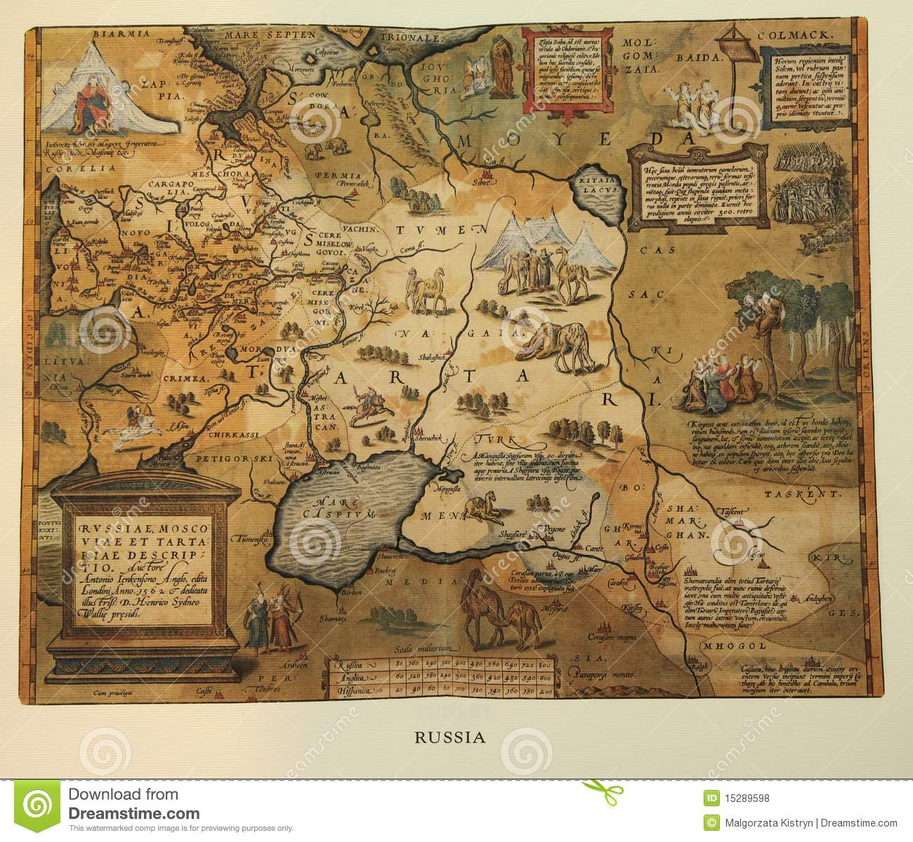Antique Map Of Russia Royalty Free Stock Photos Image - Map of russia