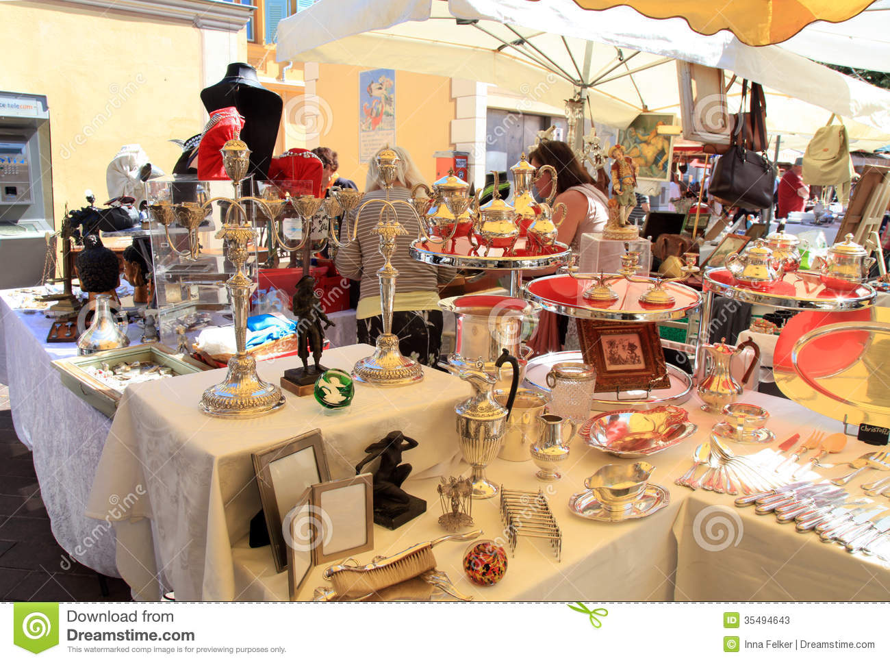 Antique Market In Nice France Editorial Stock Photo
