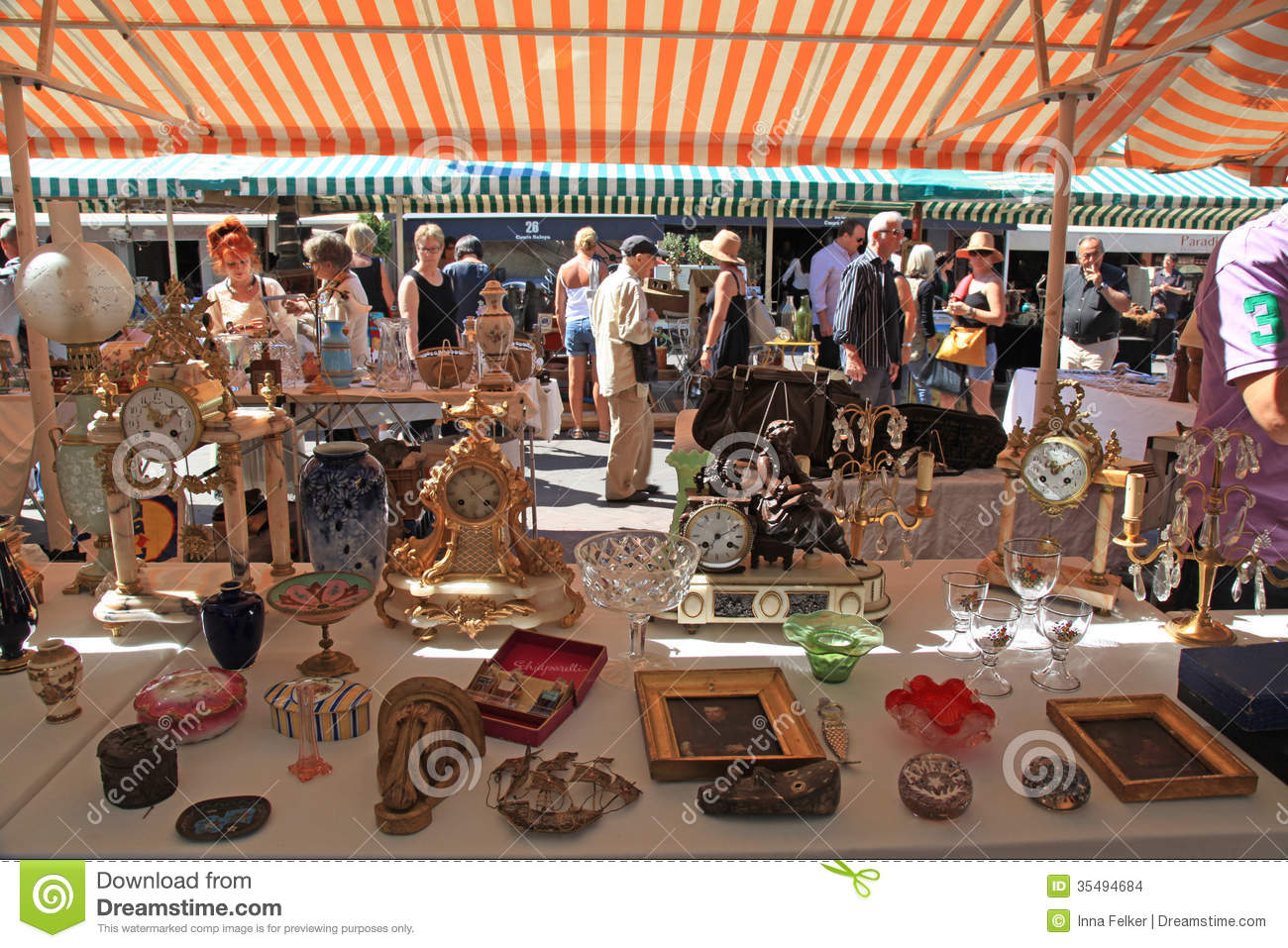 Antique market in nice france editorial stock image for Antique marketplace