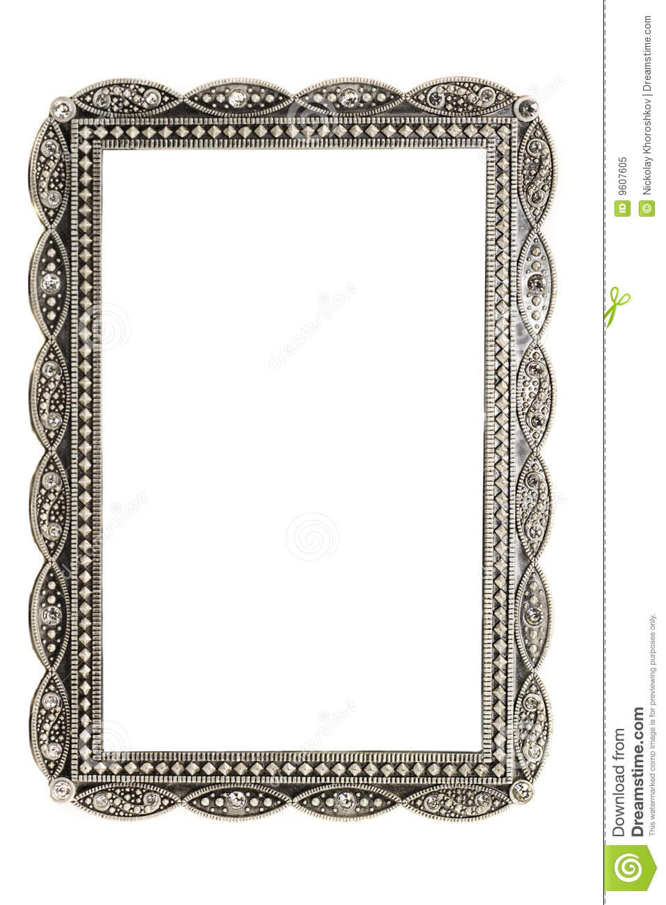 Antique Metal Picture And Photo Frame Royalty Free Stock