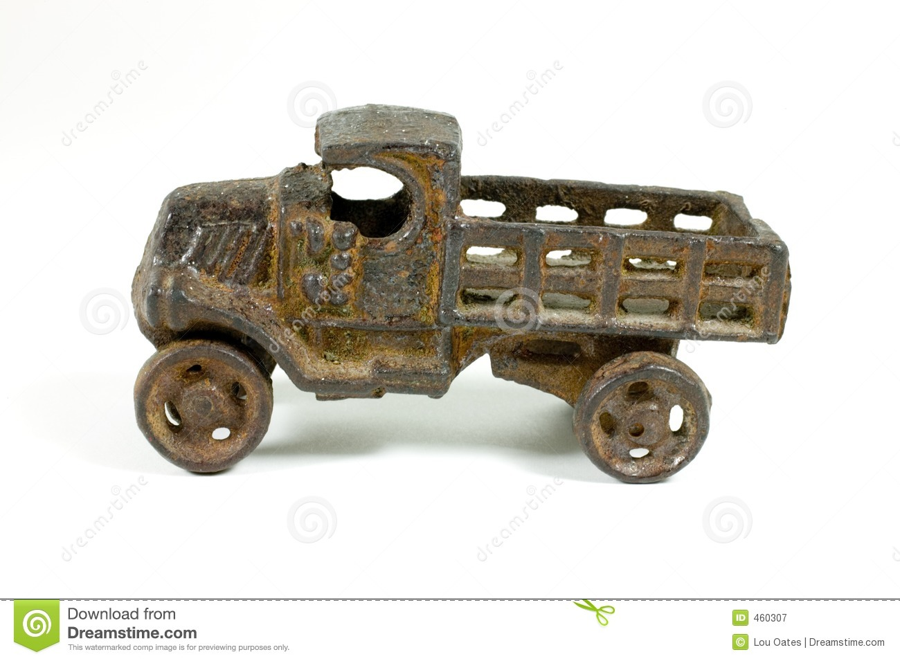 Antique Metal Toy Truck Royalty Free Stock Photography