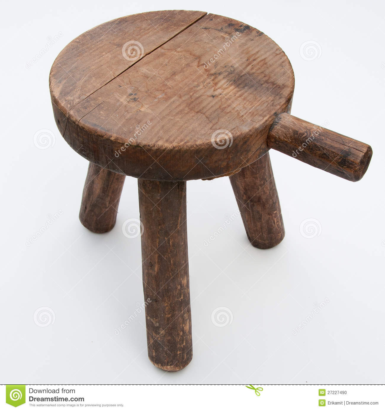 Antique Milking Stool Stock Photo Image Of Furniture