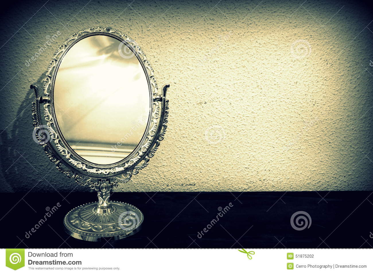 Antique Mirror Stock Photo Image Of Ancient Path Frame