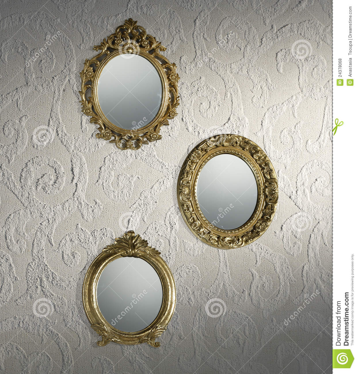 Antique mirrors wallpaper royalty free stock photos for Mirror wallpaper
