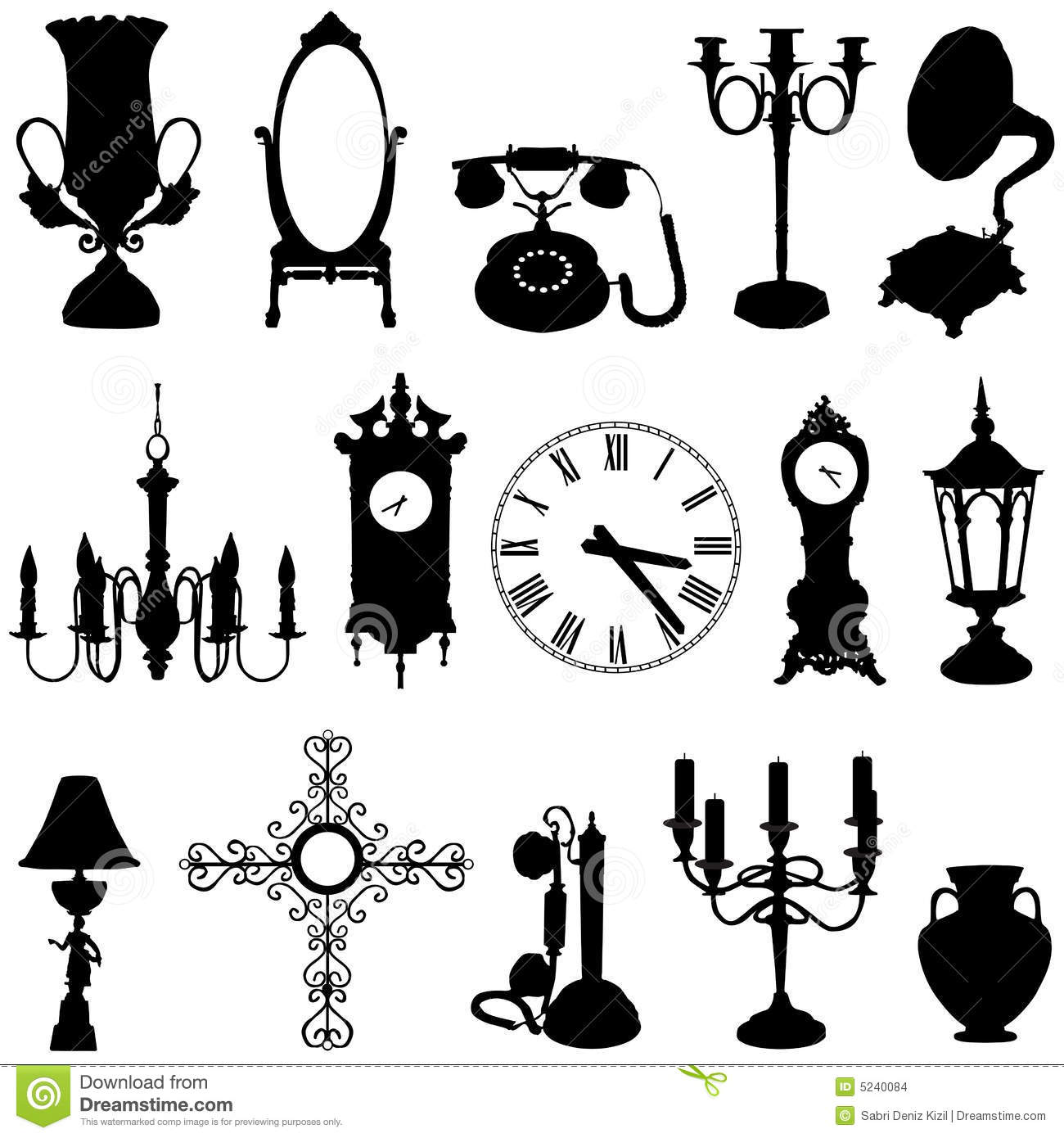Antique Objects Stock Images Image 5240084
