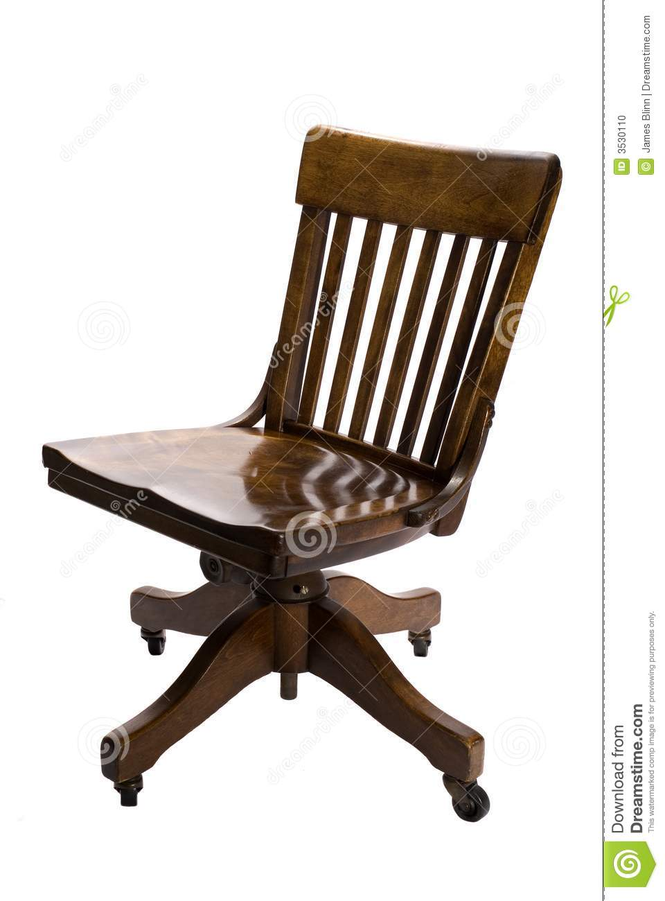 Antique Office Chair Stock Photo Image 3530110