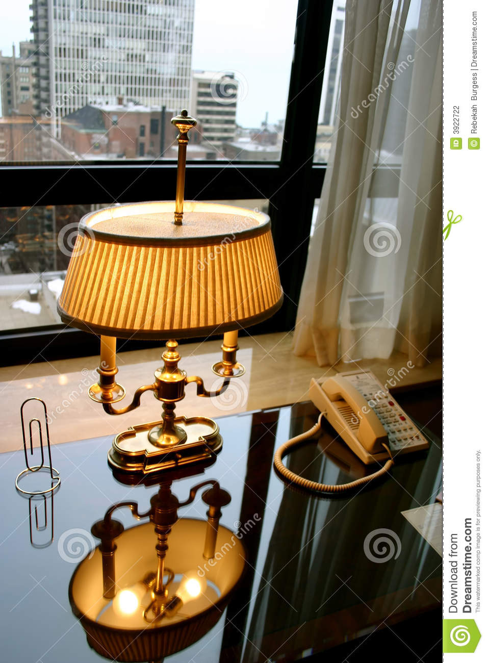Antique office lamp stock photo image of urban office for Table lamp for office