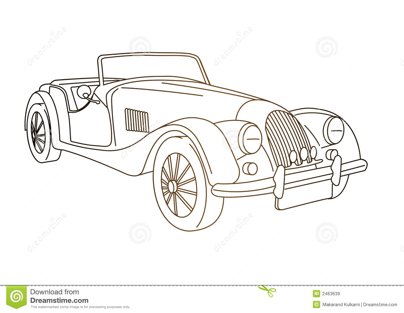 Antique old Car stock illustration. Illustration of antique - 2463639