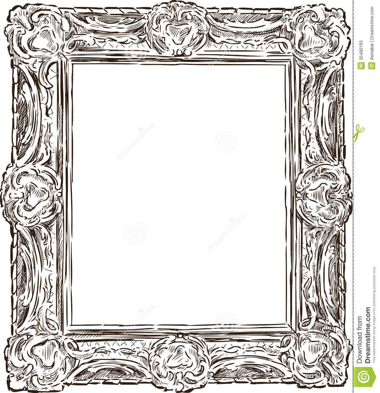 antique ornate frame