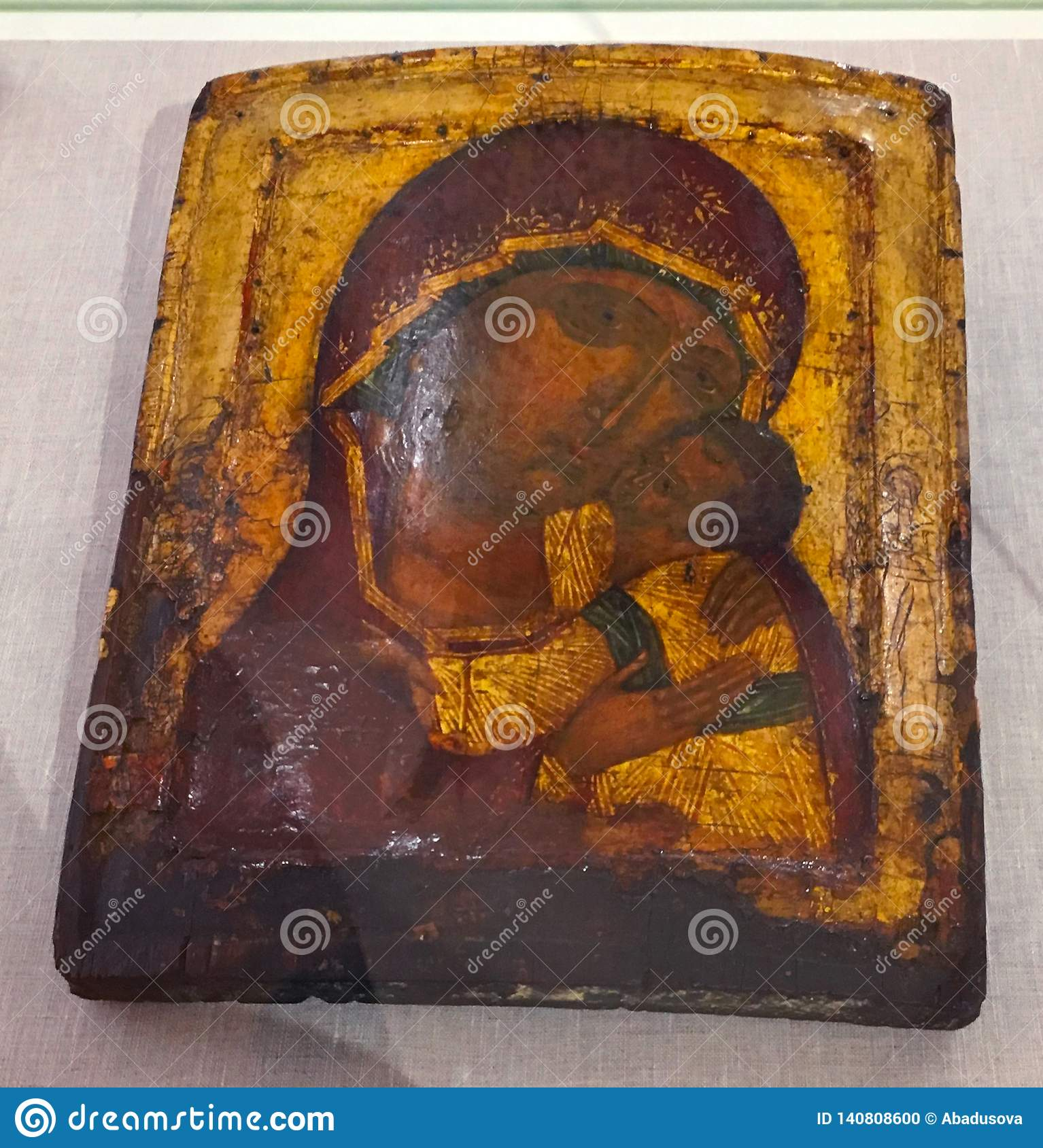 Antique orthodox paint called icon, Rhodes, Greece