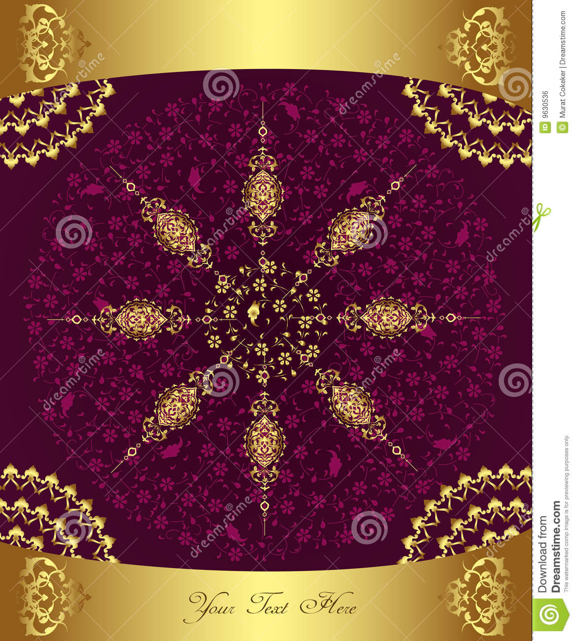 Turkish Design Wallpaper : Antique ottoman wallpaper illustration design royalty free