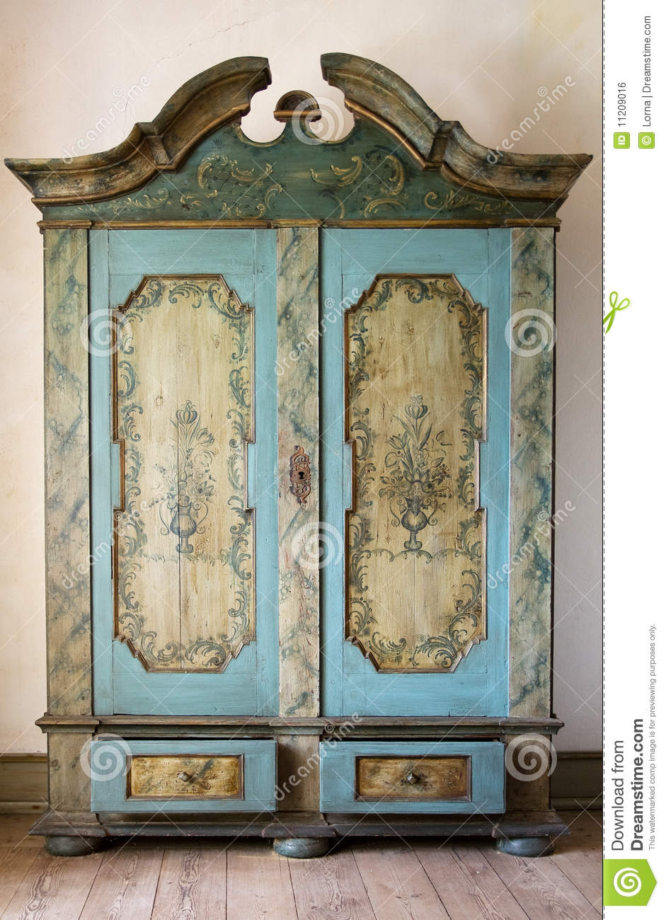 Antique Painted Cupboard Stock Photo Image Of Armoire