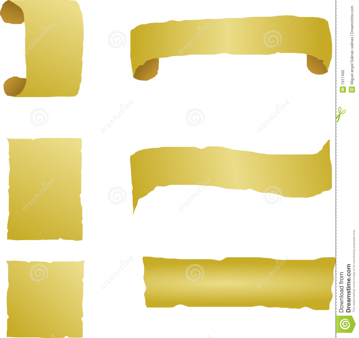 antique paper banners templates vector stock vector illustration