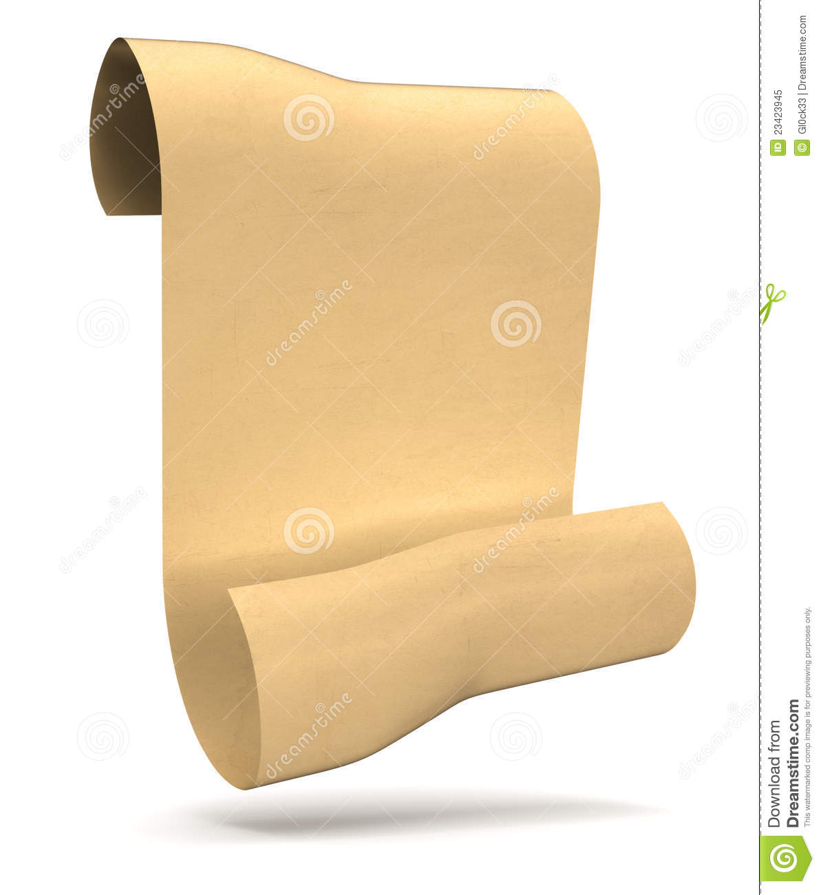 Antique Scroll Paper: Antique Paper Scroll Royalty Free Stock Photo