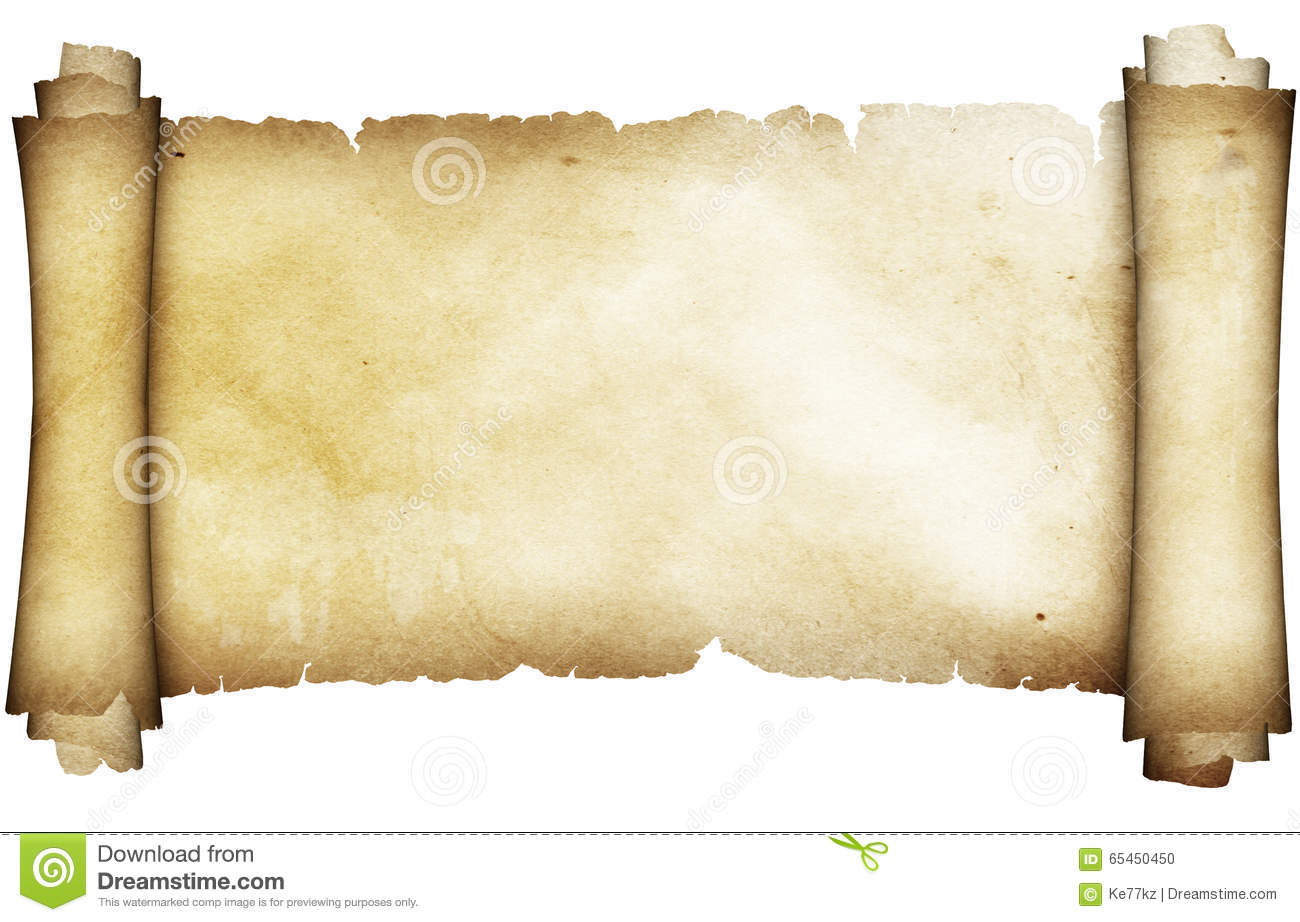 Antique Parchment Scroll Stock Photo Image Of Spotted