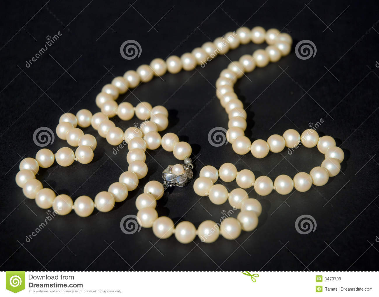 Antique Pearl Necklace Royalty Free Stock Images Image