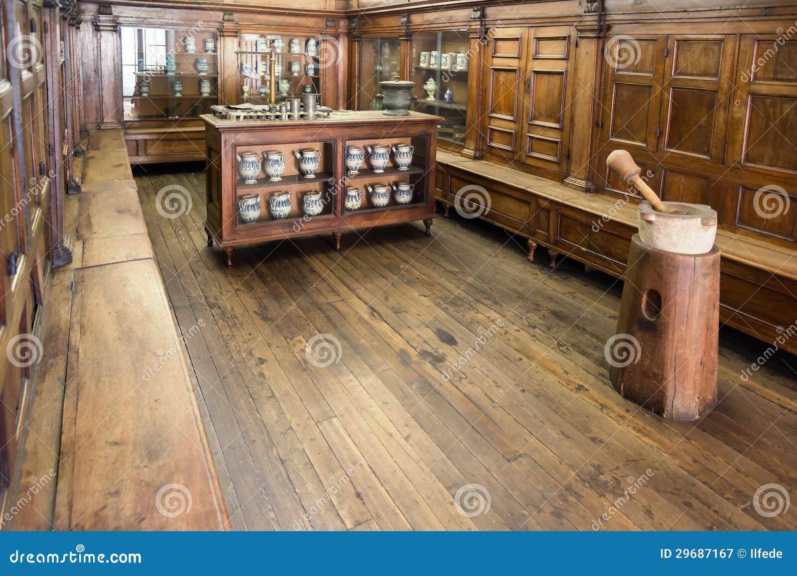Antique pharmacy laboratory royalty free stock photography image