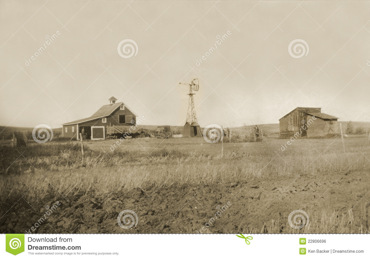 Antique photograph of homestead farmyard royalty free for Free homestead