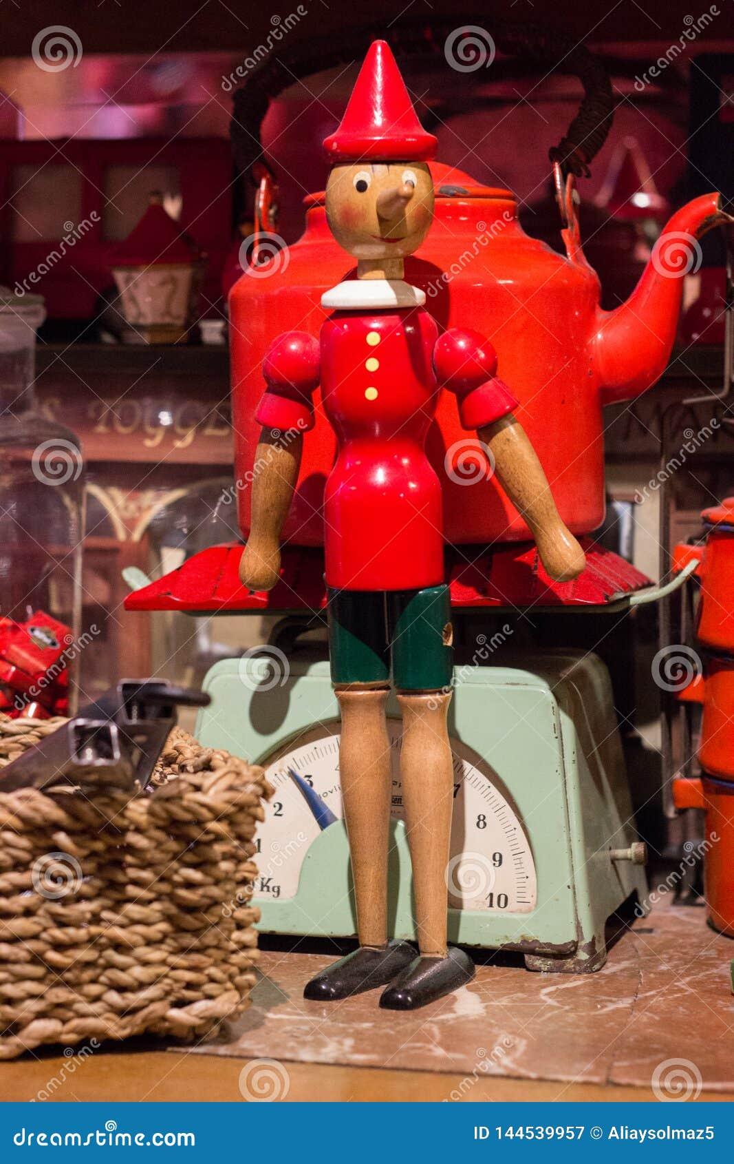Antique Pinocchio Figure, Toy