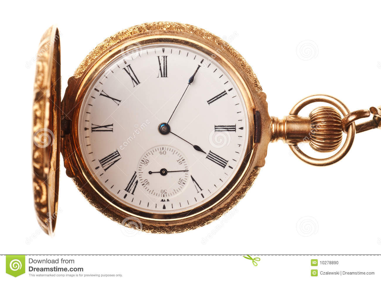antique pocket watch isolated stock photo image of
