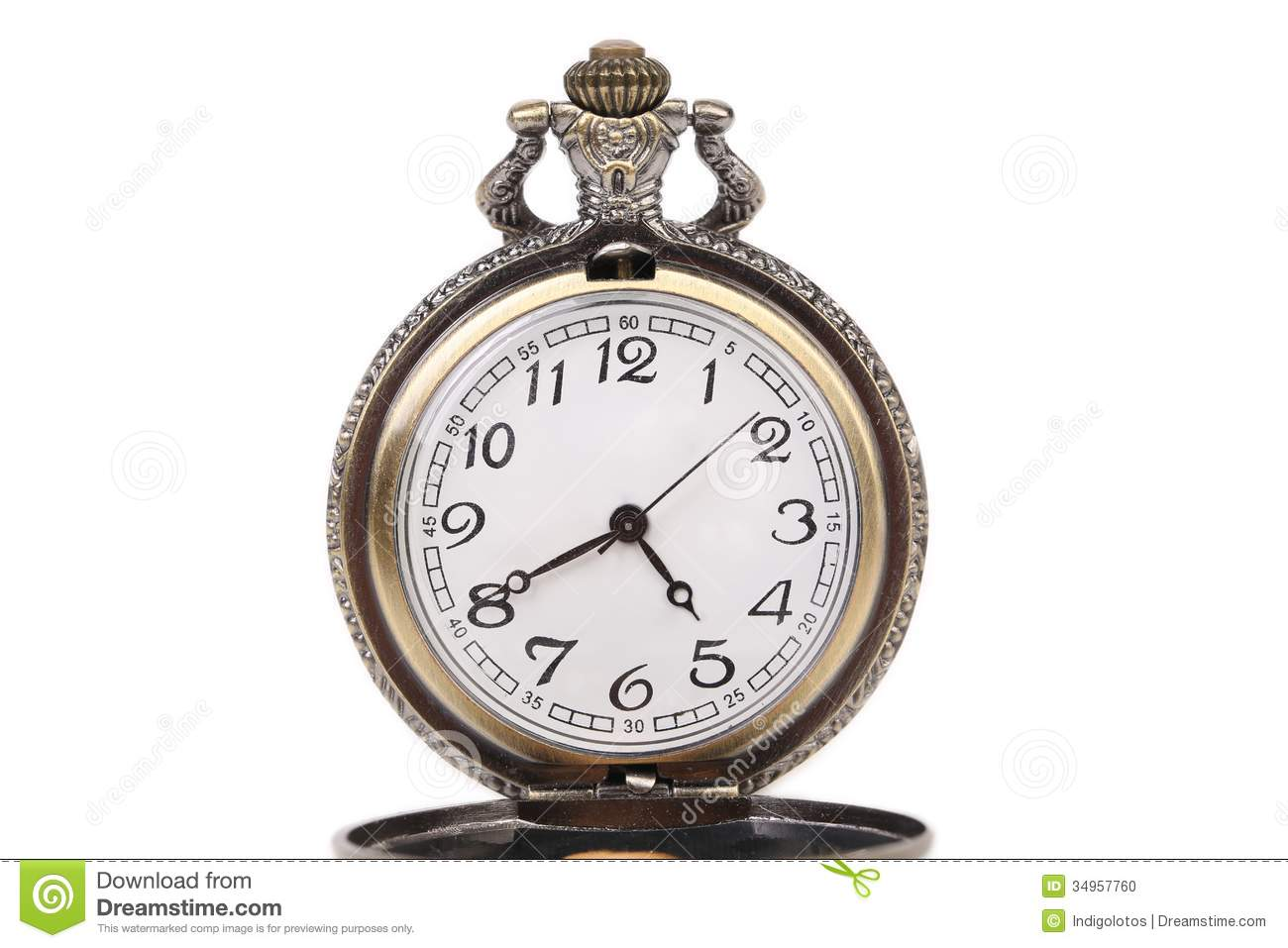 Antique Pocket Watch Stock Photo Image 34957760
